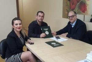 Emiliana Avila, Luciano Dias, secretário adjunto de Saúde de Camaquã, e Renato Minozzo