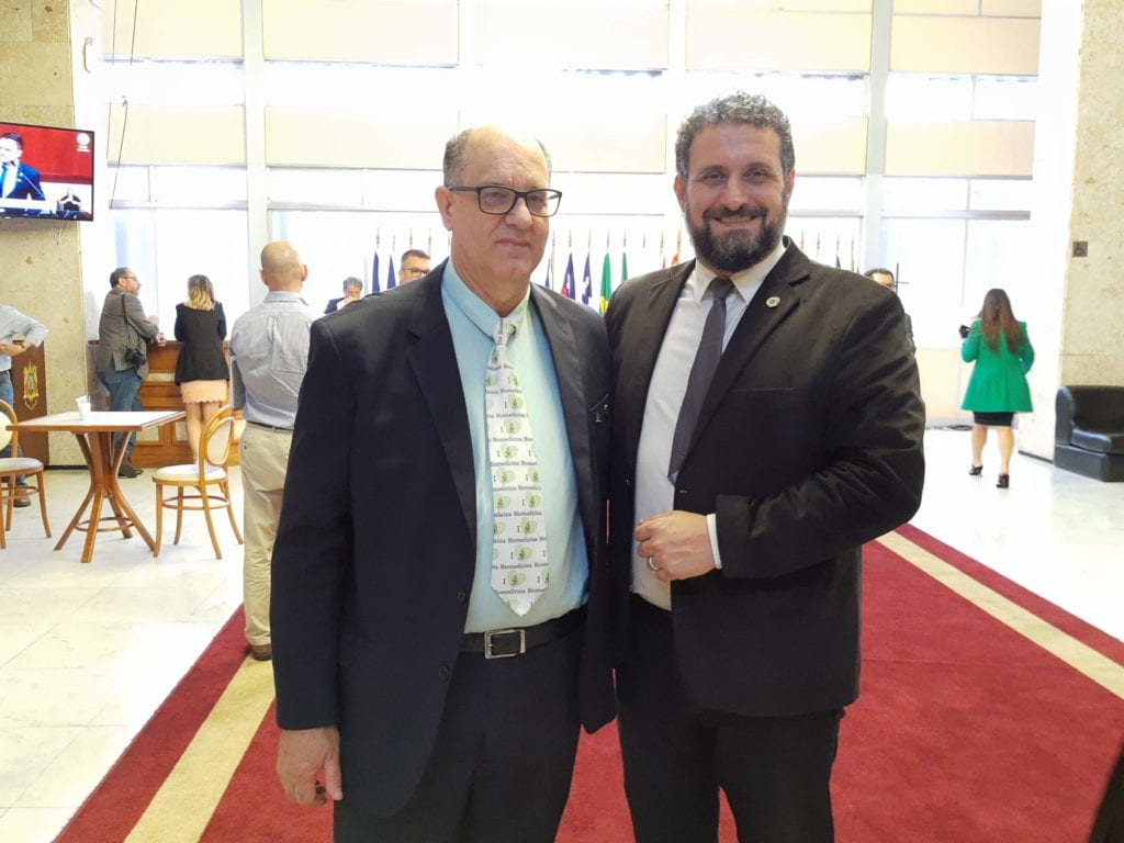 Dr Renato Minozzo, presidente do CRBM-5,  e Dep. Issur Koch
