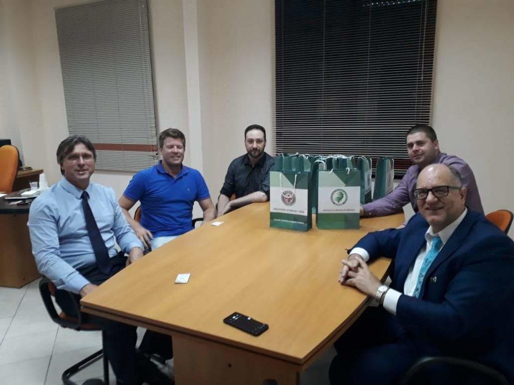 Peter Kneubuehler, presidente da Câmara de Vereadores de São Bento do Sul; Emanuel de Souza, Tiago Schiavo , Mauricio Bassuino e Renato Minozzo