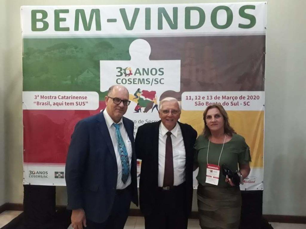 Renato Minozzo, presidente do CRBM-5, e Magno Bollmann, prefeito de São Bento do Sul (SC)