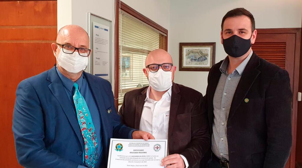 Dr. Renato Minozzo, Dr. Guilherme da Costa e Dr. Eloir Lourenço
